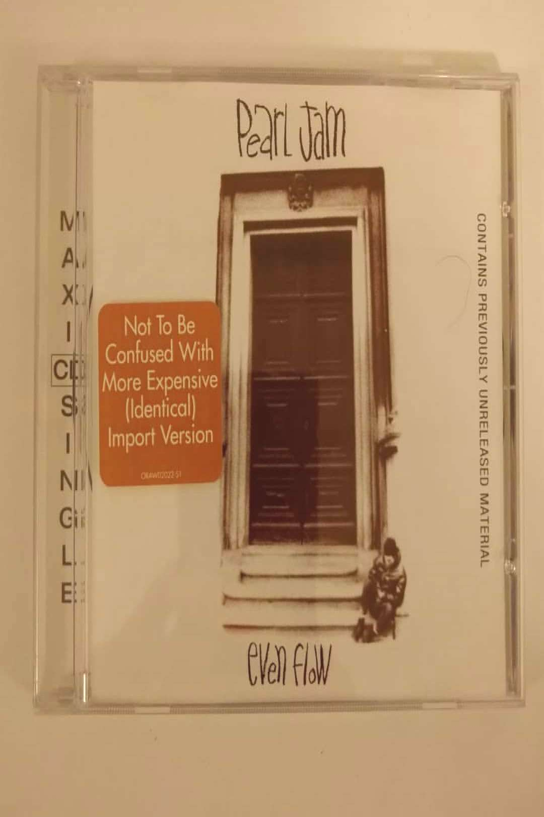 Even Flow (Maxi CD Single) (1992) by Pearl Jam on Compact Disc vi
