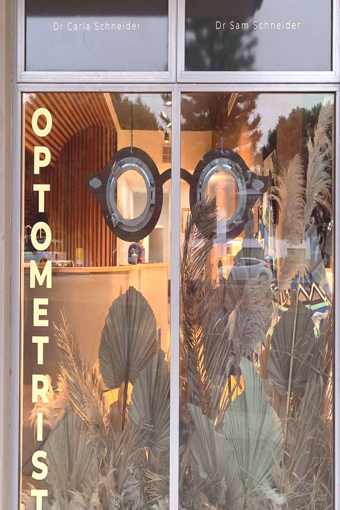 Eye Glasses made from portholes. Optometrist in Fremantle approac