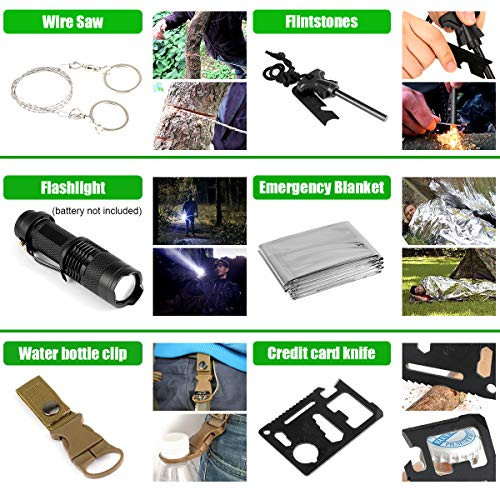 Gifts for Men Dad Husband, 35 in 1 Survival Gear and