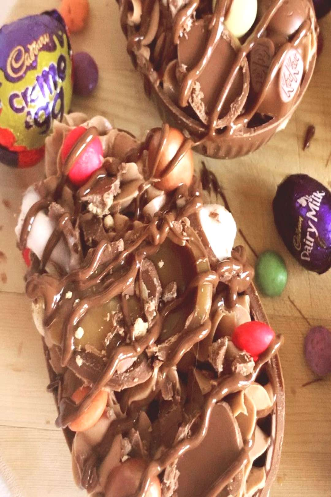 Here they are! My take on the popular filled Easter egg halves! T