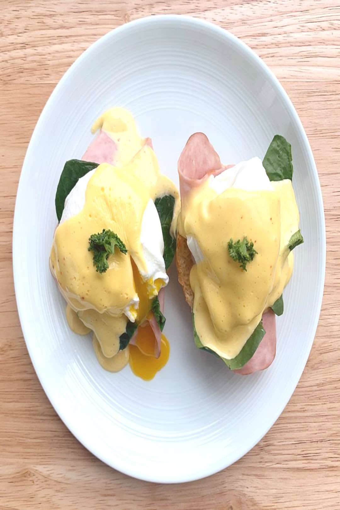 Homemade Eggs Benedict for Sunday brunch ️. Eggs Benedict has a