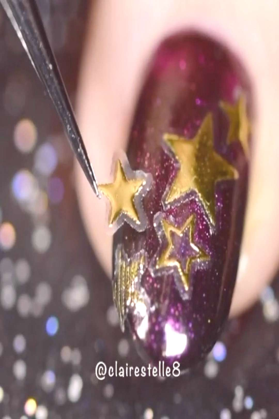 How to do a stunning Starry ombre nail art with Classic Stars #so