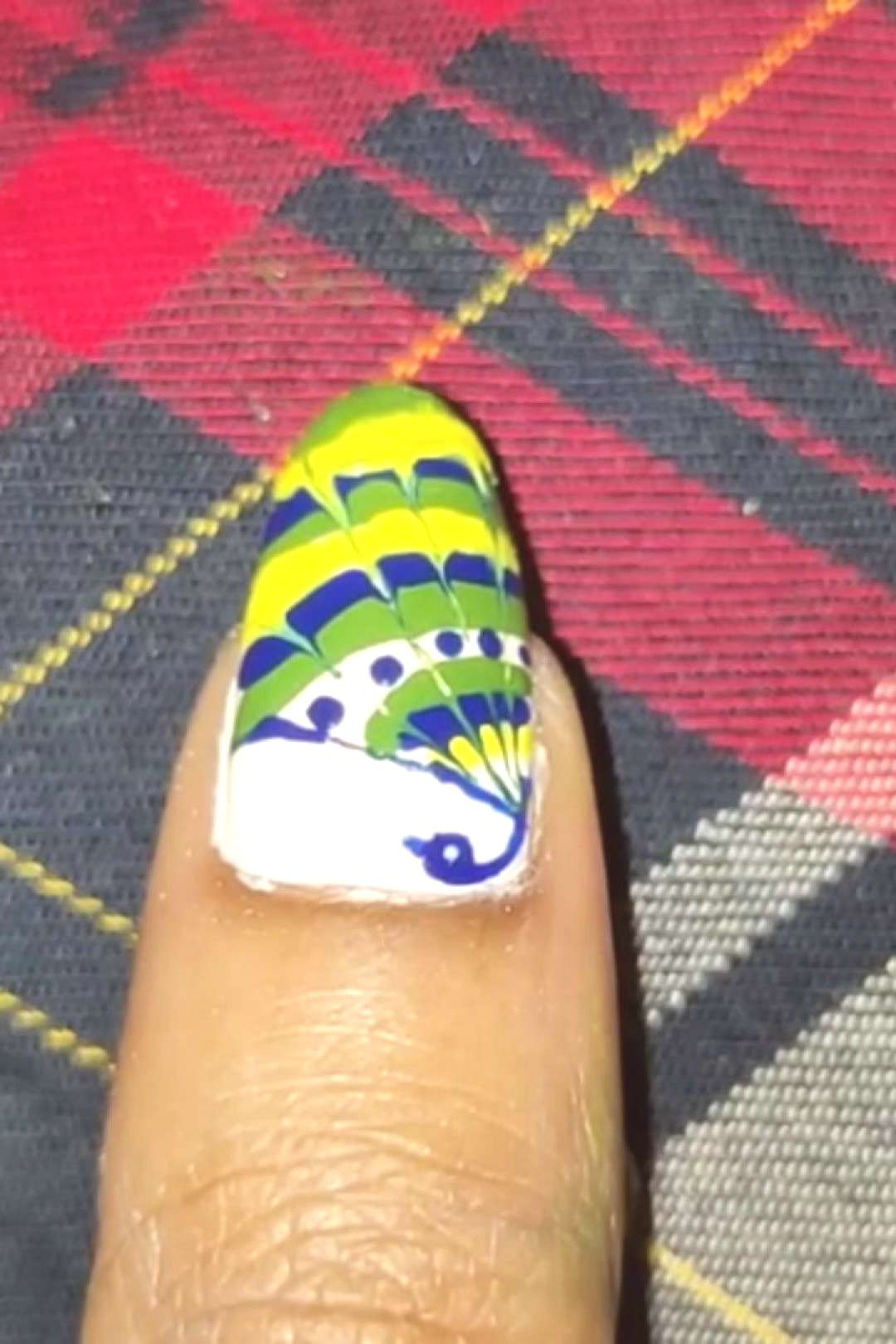 I have created this hand painted peacock nailart...if you like th