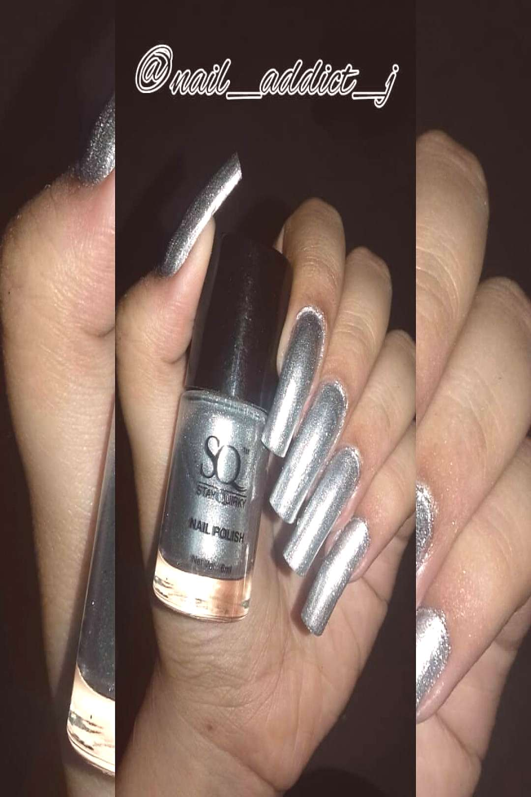 .in SILVER LONGING METALLIC LUST -3 Picture taken before the nail