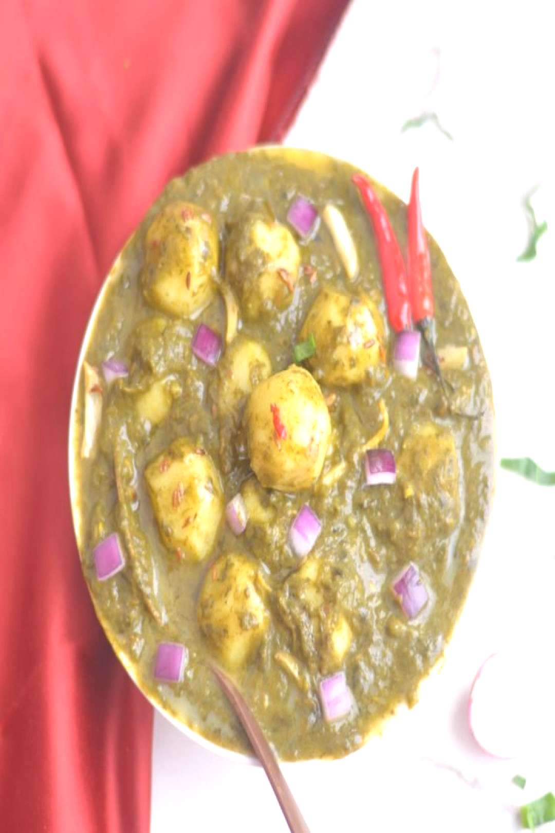 Instant Pot Saag Aloo (Spinach Potato Curry)-This creamy and flav