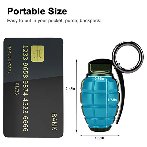 Keychain Pill Holder with Storage Case, Small Airtight Pill