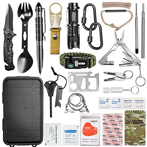 Lchahsprn Survival Gear Kit 37 in 1, Emergency EDC Survival