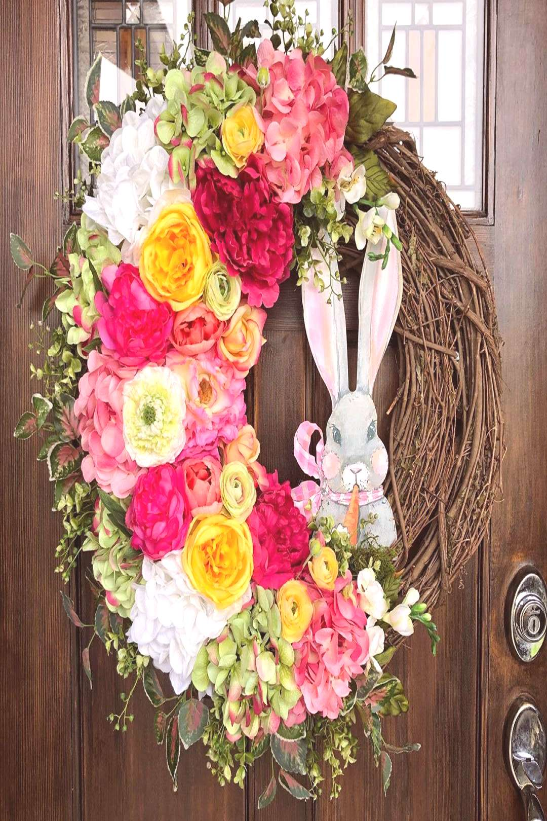 New!! Large Easter bunny wreath!! Message me #Easter #easterwreat