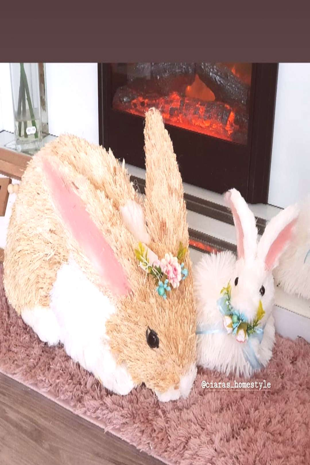 NEW XL Bunny Such a Gorgeous Feature Piece E49.99 (White Fluffy B