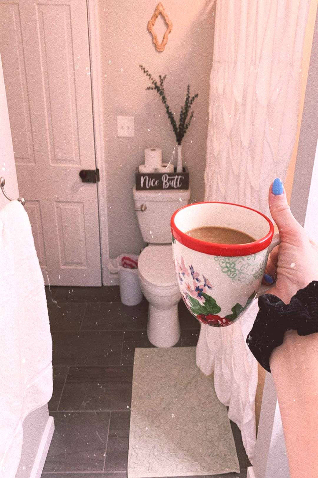 one or more people drink coffee cup and indoor