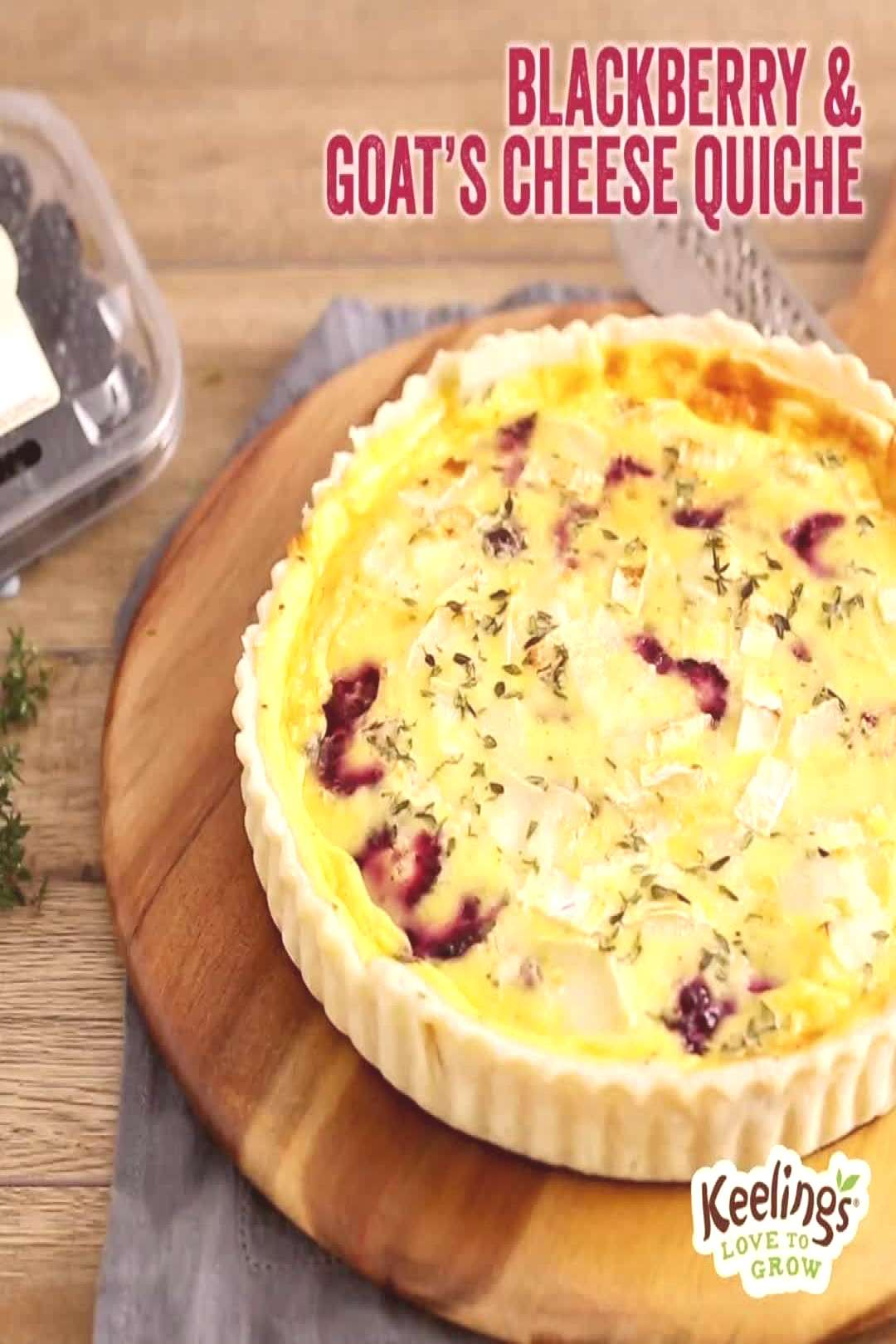 Our Blackberry and Goats Cheese Quiche is sweet, savoury, and eve