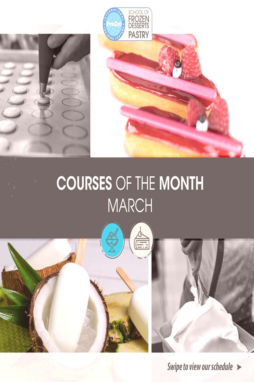 Please swipe to see all of our courses for the month of March! We