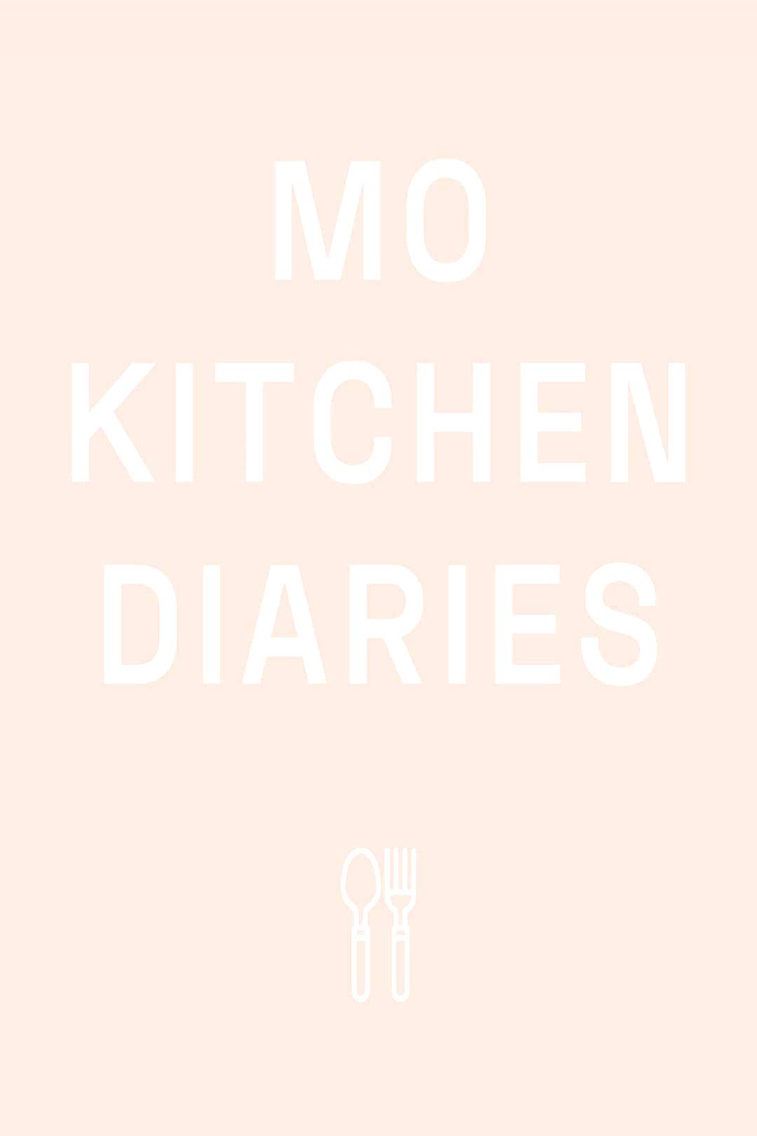possible text that says 'MO KITCHEN DIARIES OY