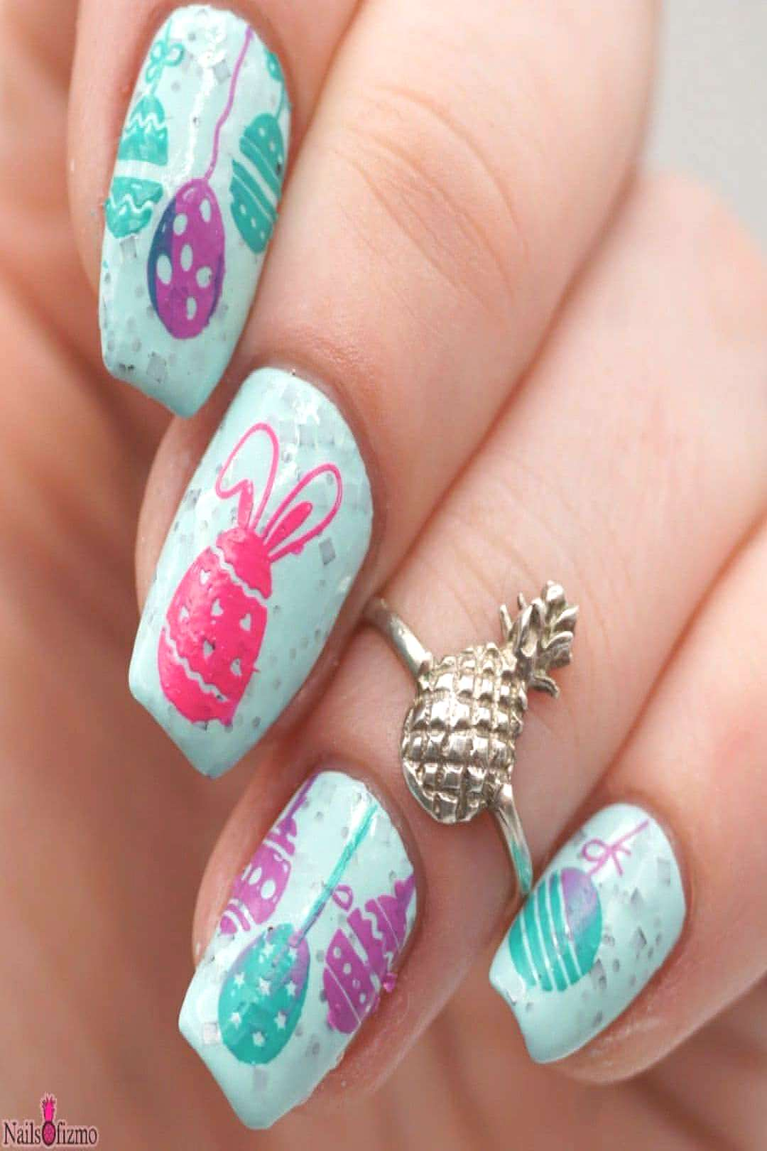 [#prsample] Rockin Robin nail art! How could I not stamp eggs on