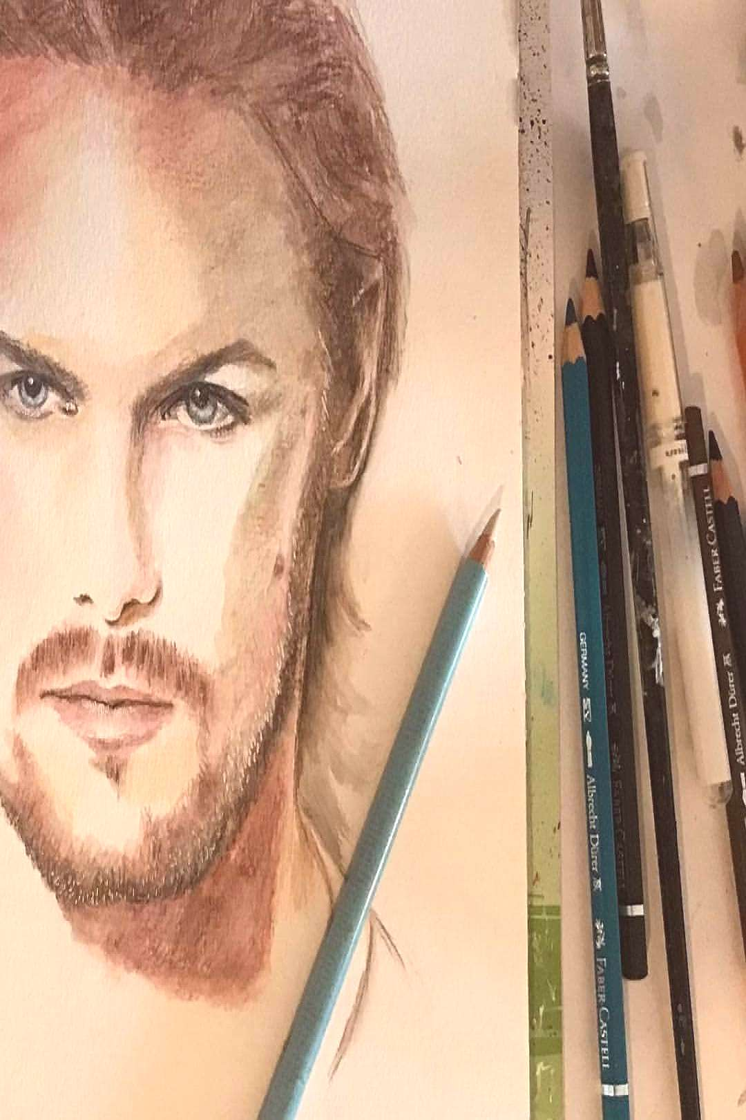 #Repost * * * * * * Started to draw those blue eyes YouTube video