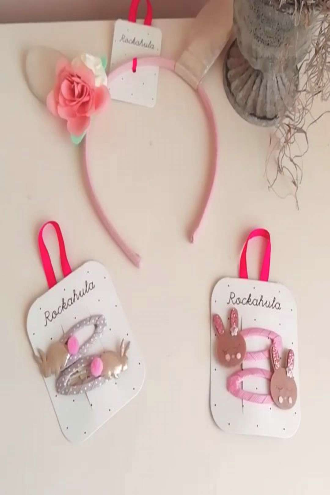 Rockahula bunny themed hair clips and Alice band - I thought it w
