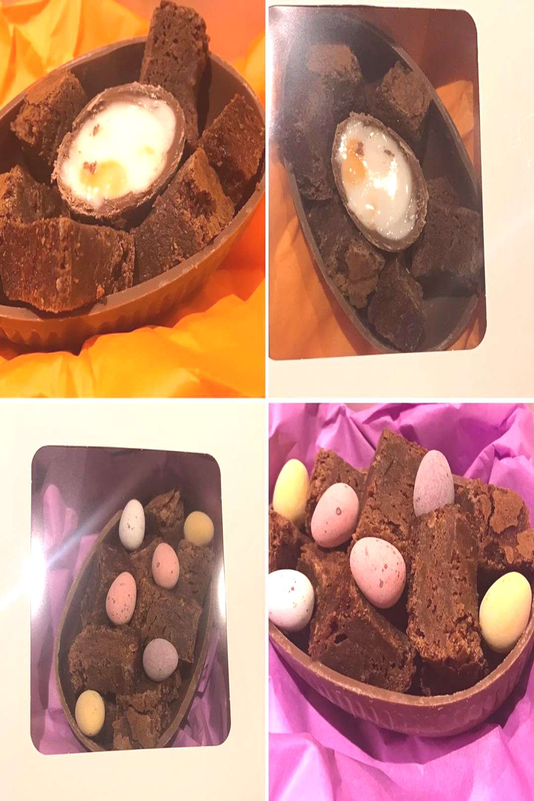 So cake-filled Easter Eggs are popular in bakeries this time of y