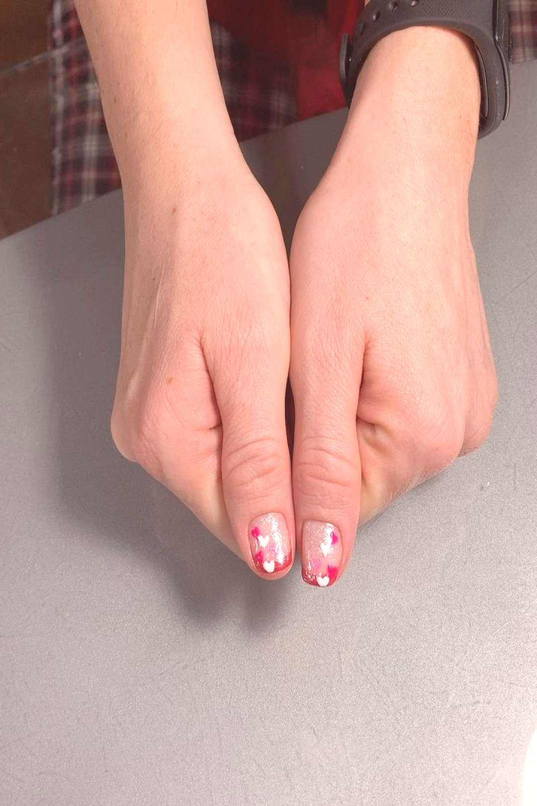 Still loving these gel French tips from Valentines Day * * * * #