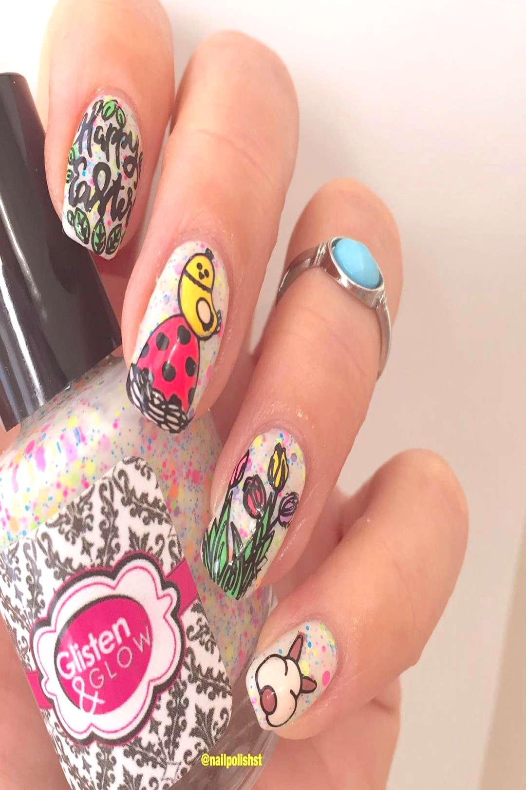 Today Im reviewing Easter Day Rabbit Nail Art Stamping Plate (SK