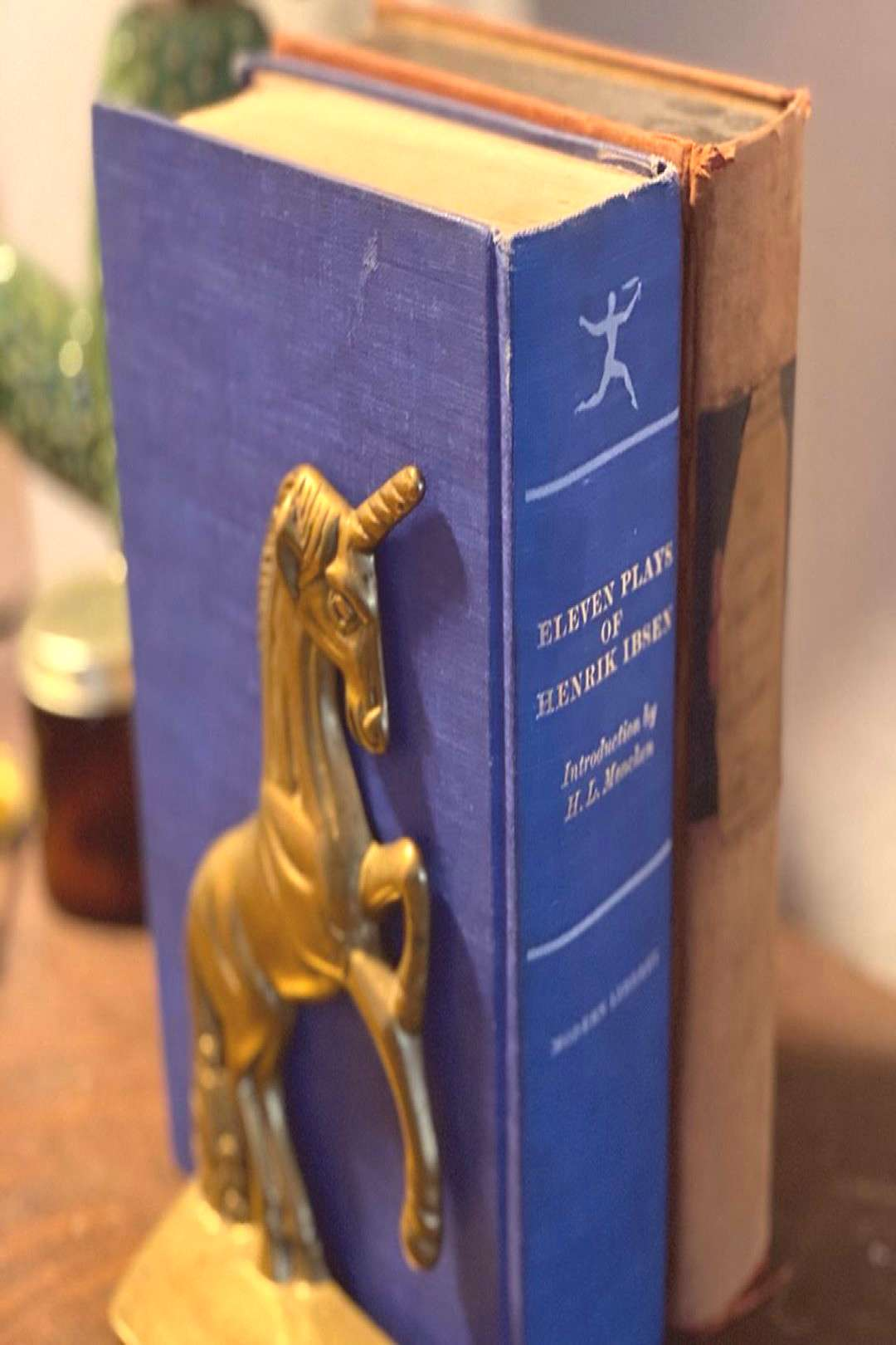 Vintage Brass Unicorn Bookends 6.5quotx4quot $35 + Shipping // I think