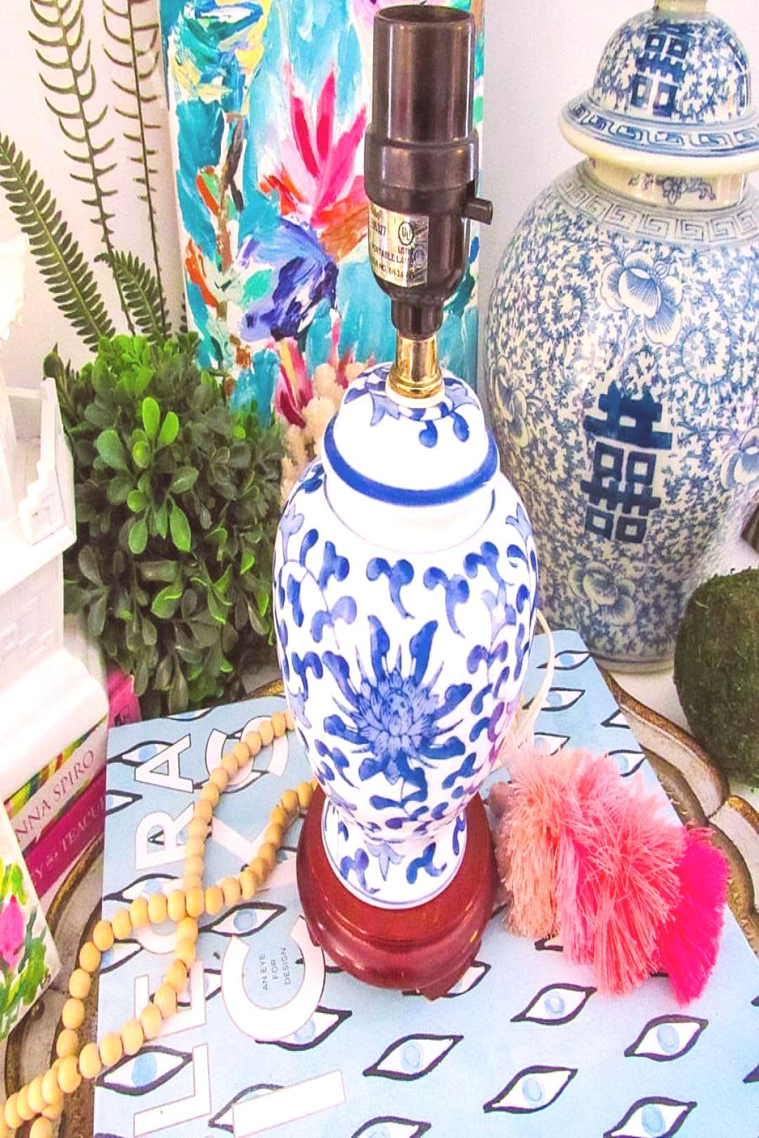 We love a good lamp here at C&C! Especially a cutie patootie blue